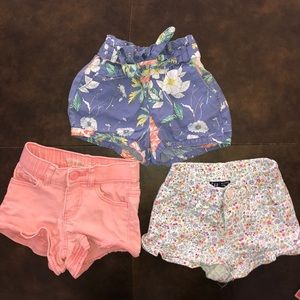 3 Pairs of Gaps Shorts. All size 18-24 Months.